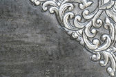 Material wall and ancient tile Thai silver pattern Crafts world. — Stock Photo