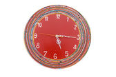 Red green clock — Fotografia Stock