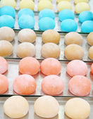 """Colorful Japanese dessert called """"mochi"""" — Stock Photo"""