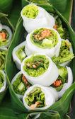 Vegetabiliska inuti mjöl blad, thailändsk efterrätt — Stockfoto