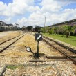 Switch choose railway lane — Stock Photo #32442145