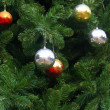 Stock Photo: Chrismas balls background