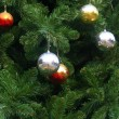 Chrismas balls background — Stock Photo