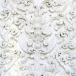 Stock Photo: White thai art stucco wall, temple