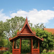 Thailand traditional wood pavillion, old fashioned  — Stok fotoğraf