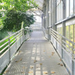 Metal walk way in conservatory  — Stockfoto