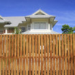 Wooden house fence — Stock Photo