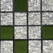 Stone and grass wall pattern texture  — Stock Photo
