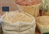 Rice in sack — Stock Photo
