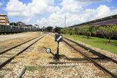 Switch choose railway lane — Stock Photo