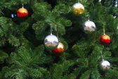 Chrismas balls background — 图库照片