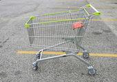 Shopping Cart at car park — Stock Photo