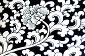 Lotus painting ceramic potter background — Stock Photo