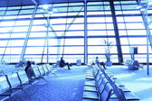 View of airport terminal seat — Stock Photo