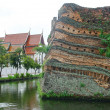 Stock Photo: Chiangmai moat and ancient wall ,Thailand