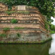 Chiangmai moat and ancient wall ,Thailand — Stock Photo