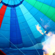 Stock Photo: Flame seen inside a hot air balloon