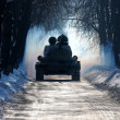 Stock Photo: T-34 winter