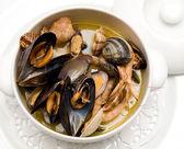 Seafood soup — Stock Photo