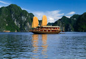 Vietnam sailboat — Stock Photo