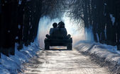 T-34 winter — Stock Photo