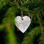 Christmas decoration hanging on christmas tree — Stock Photo