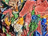 Plastic compressed for recycling — Foto de Stock