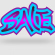 Sale graffiti — Stock Vector