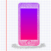 Sketch smartphone — Stockvektor
