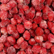 Many frozen strawberry — Stock Photo