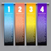 Vector 3d abstracto infografías de papel — Vector de stock