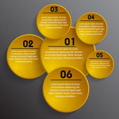 Infographic background in form of circle — Vecteur