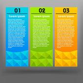 Modelo de design moderno colorido — Vetor de Stock