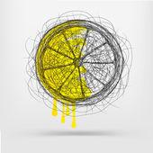 Hand drawn sketch of lemon — Stock Vector