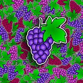 Grapes background — Stock Vector