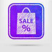 Sale bag icon — Stock Vector