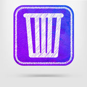 Recycle bin icon — Stock Vector