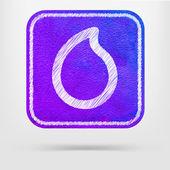 Water drop pictogram — Stockvector