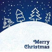 Merry christmas card. vektor illustration. — Stockvektor