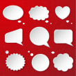 Set of cute speech bubbles — Stock vektor