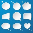 Set of paper speech bubbles — Imagen vectorial