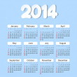 Calendar 2014 year — Stock Vector
