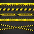 Set of caution tapes. Vector illustration. — Grafika wektorowa