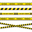 Set of caution tapes. Vector illustration. — Stock Vector