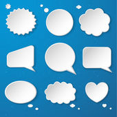 Set of paper speech bubbles — Stock Vector