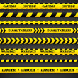Set of caution tapes. — Stock Vector #38416639