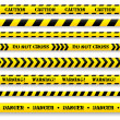 Stok Vektör: Set of caution tapes.