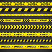 Set of caution tapes. — Stock Vector