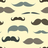 Trendy pattern with mustache. — Stock Vector