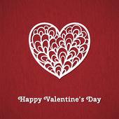 Cartão feliz do dia dos namorados. — Vetor de Stock